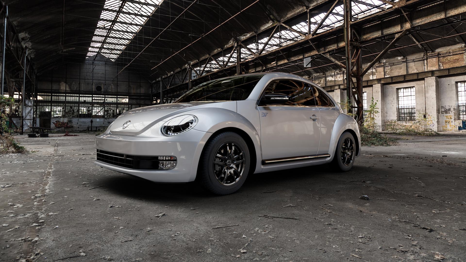 ProLine Wheels VX100 Black Matt Felge mit Reifen schwarz in 16Zoll Winterfelge Alufelge auf silbernem Volkswagen (VW) The Beetle Typ 16 ⬇️ mit 15mm Tieferlegung ⬇️ Industriehalle 1 Camera_000