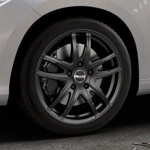 ProLine Wheels VX100 black matt Felge mit Reifen schwarz in 17Zoll Winterfelge Alufelge auf silbernem Fiat Tipo II Limousine Typ 356 ⬇️ mit 15mm Tieferlegung ⬇️ Industriehalle 1 Thumbnail