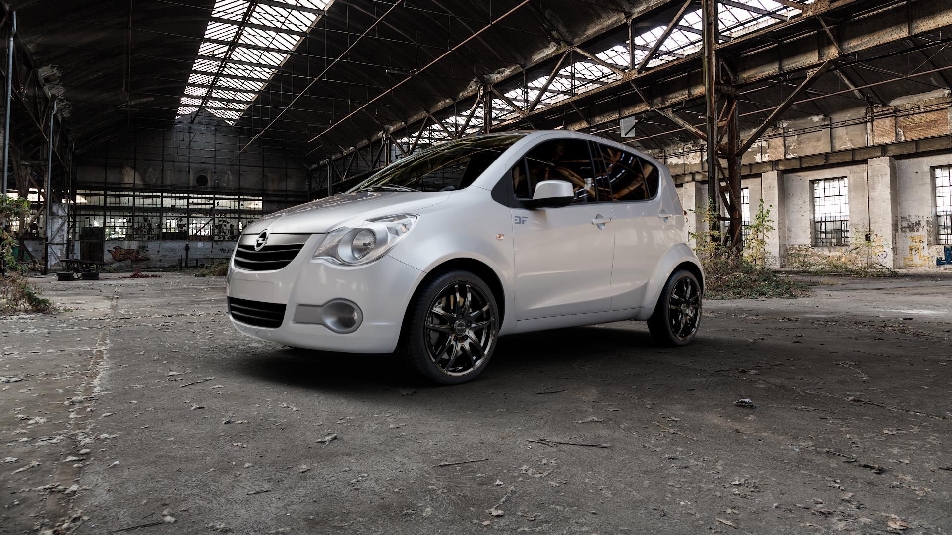 ProLine Wheels VX100 Black Matt Felge mit Reifen schwarz in 17Zoll Winterfelge Alufelge auf silbernem Opel Agila Typ H-B ⬇️ mit 15mm Tieferlegung ⬇️ Industriehalle 1 Camera_000
