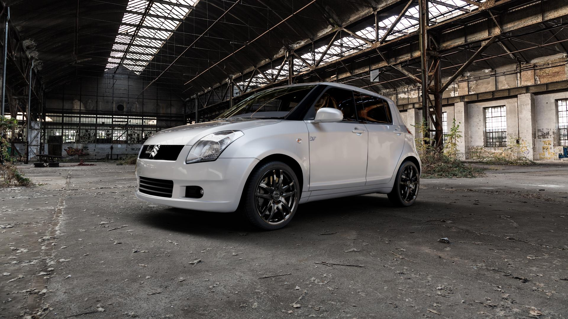 ProLine Wheels VX100 Black Matt Felge mit Reifen schwarz in 17Zoll Winterfelge Alufelge auf silbernem Suzuki Swift IV Typ MZ EZ ⬇️ mit 15mm Tieferlegung ⬇️ Industriehalle 1 Camera_000