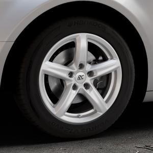RC Design RC24 kristallsilber lackiert Felge mit Reifen in 16Zoll Winterfelge Alufelge auf silbernem Citroen C5 II ⬇️ mit 15mm Tieferlegung ⬇️ Industriehalle 1 Thumbnail