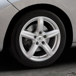 RC Design RC24 kristallsilber lackiert Felge mit Reifen in 16Zoll Winterfelge Alufelge auf silbernem Peugeot 207 CC ⬇️ mit 15mm Tieferlegung ⬇️ Industriehalle 1 Thumbnail
