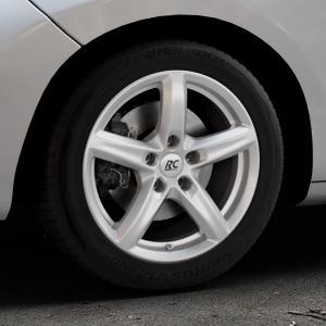 RC Design RC24 kristallsilber lackiert Felge mit Reifen in 16Zoll Winterfelge Alufelge auf silbernem Peugeot 207 SW ⬇️ mit 15mm Tieferlegung ⬇️ Industriehalle 1 Thumbnail