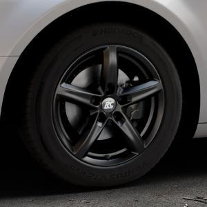 RC Design RC24 schwarz-matt lackiert Felge mit Reifen in 16Zoll Winterfelge Alufelge auf silbernem Citroen C5 II ⬇️ mit 15mm Tieferlegung ⬇️ Industriehalle 1 Thumbnail