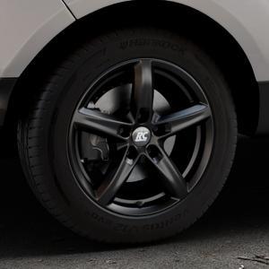RC Design RC24 schwarz-matt lackiert Felge mit Reifen in 16Zoll Winterfelge Alufelge auf silbernem Ford EcoSport Typ JK8 Facelift ⬇️ mit 15mm Tieferlegung ⬇️ Industriehalle 1 Thumbnail