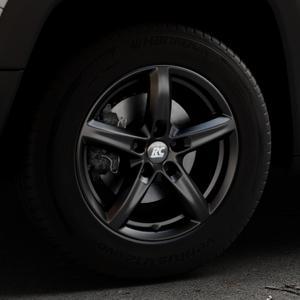 RC Design RC24 schwarz-matt lackiert Felge mit Reifen in 16Zoll Winterfelge Alufelge auf silbernem Jeep Renegade Typ BU ⬇️ mit 15mm Tieferlegung ⬇️ Industriehalle 1 Thumbnail