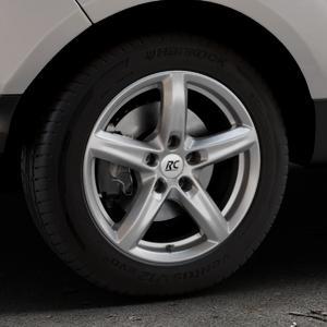 RC Design RC24 titan-metallic lackiert Felge mit Reifen grau in 16Zoll Winterfelge Alufelge auf silbernem Ford EcoSport Typ JK8 Facelift ⬇️ mit 15mm Tieferlegung ⬇️ Industriehalle 1 Thumbnail