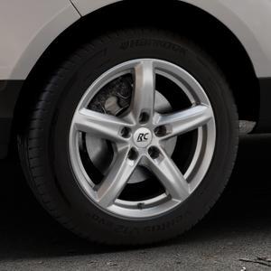 RC Design RC24 titan-metallic lackiert Felge mit Reifen grau in 16Zoll Winterfelge Alufelge auf silbernem Ford EcoSport Typ JK8 ⬇️ mit 15mm Tieferlegung ⬇️ Industriehalle 1 Thumbnail