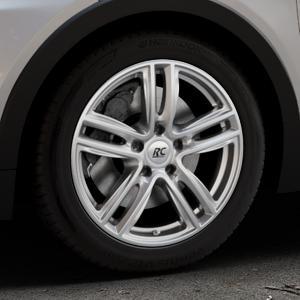 RC Design RC27 kristallsilber lackiert Felge mit Reifen in 17Zoll Winterfelge Alufelge auf silbernem Opel Ampera-e Typ 1G0F ⬇️ mit 15mm Tieferlegung ⬇️ Industriehalle 1 Thumbnail