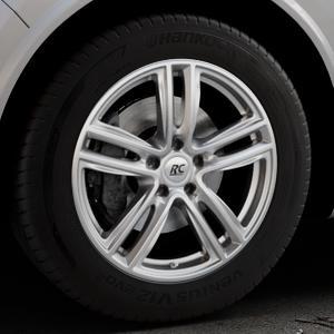 RC Design RC27 kristallsilber lackiert Felge mit Reifen in 18Zoll Winterfelge Alufelge auf silbernem Alfa Romeo Stelvio Typ 949 ⬇️ mit 15mm Tieferlegung ⬇️ Industriehalle 1 Thumbnail