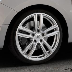 RC Design RC27 kristallsilber lackiert Felge mit Reifen in 18Zoll Winterfelge Alufelge auf silbernem Dacia Logan II Typ SD ⬇️ mit 15mm Tieferlegung ⬇️ Industriehalle 1 Thumbnail