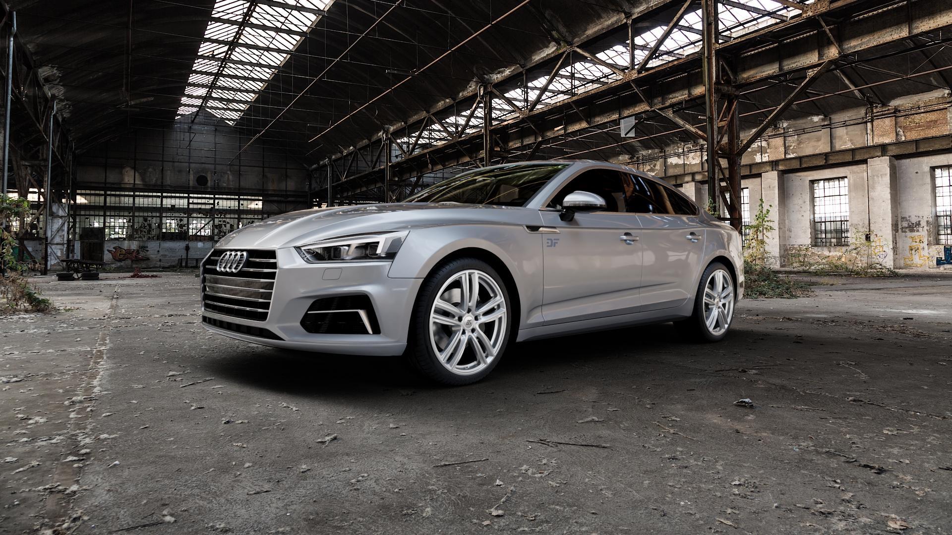 RC Design RC27 kristallsilber lackiert Felge mit Reifen in 19Zoll Winterfelge Alufelge auf silbernem Audi A5 Typ B9 (Sportback) 2,0l TDI 140kW (190 PS) quattro TFSI 185kW (252 3,0l 160kW (218 200kW (272 1,4l 110kW (150 183kW (249 g-tron 125kW (170 Mild-Hybrid 100kW (136 210kW (286 45 180kW (245 35 40 50 170kW (231 120kW (163 30 ⬇️ mit 15mm