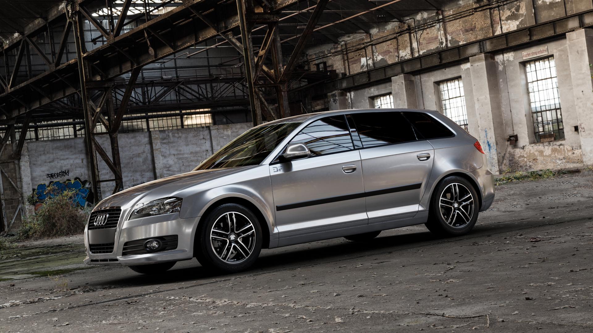 RC Design RC27 schwarz front-poliert Felge mit Reifen silber mehrfarbig in 16Zoll Winterfelge Alufelge auf silbernem Audi A3 Typ 8P (Sportback) 1,6l 75kW (102 PS) 2,0l FSI 110kW (150 1,9l TDI 77kW (105 103kW (140 TFSI 147kW (200 85kW (116 100kW (136 1,8l 118kW (160 125kW (170 1,4l 92kW (125 120kW (163 quattro 3,2l V6 184kW (250 S3 195kW (265 1,2l 66kW (90