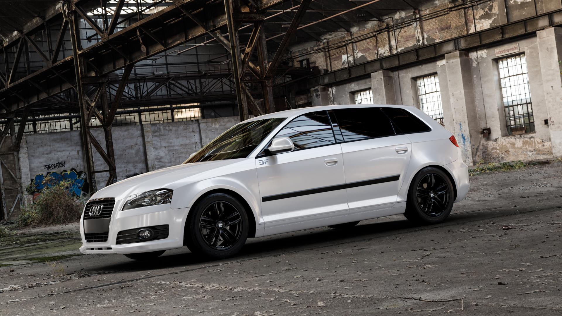 RC Design RC27 schwarz-matt lackiert Felge mit Reifen in 16Zoll Winterfelge Alufelge auf weissem Audi A3 Typ 8P (Sportback) 1,6l 75kW (102 PS) 2,0l FSI 110kW (150 1,9l TDI 77kW (105 103kW (140 TFSI 147kW (200 85kW (116 100kW (136 1,8l 118kW (160 125kW (170 1,4l 92kW (125 120kW (163 quattro 3,2l V6 184kW (250 S3 195kW (265 1,2l 66kW (90 18
