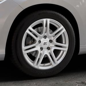 RC Design RC28 kristallsilber lackiert Felge mit Reifen in 16Zoll Winterfelge Alufelge auf silbernem Fiat Tipo II Limousine Typ 356 ⬇️ mit 15mm Tieferlegung ⬇️ Industriehalle 1 Thumbnail