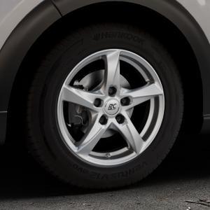 RC Design RC30 kristallsilber lackiert Felge mit Reifen in 15Zoll Winterfelge Alufelge auf silbernem Citroen C3 III ⬇️ mit 15mm Tieferlegung ⬇️ Industriehalle 1 Thumbnail