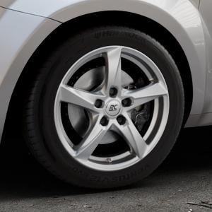 RC Design RC30 kristallsilber lackiert Felge mit Reifen in 16Zoll Winterfelge Alufelge auf silbernem Alfa Romeo Mito Typ 955 ⬇️ mit 15mm Tieferlegung ⬇️ Industriehalle 1 Thumbnail