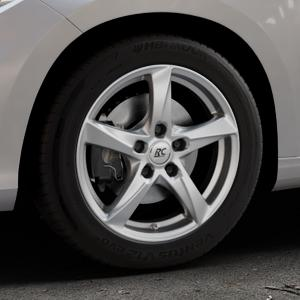 RC Design RC30 kristallsilber lackiert Felge mit Reifen in 16Zoll Winterfelge Alufelge auf silbernem Fiat Tipo II Limousine Typ 356 ⬇️ mit 15mm Tieferlegung ⬇️ Industriehalle 1 Thumbnail