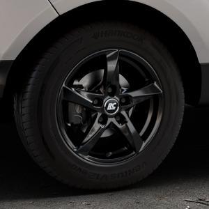 RC Design RC30 schwarz lackiert Felge mit Reifen in 15Zoll Winterfelge Alufelge auf silbernem Ford EcoSport Typ JK8 Facelift ⬇️ mit 15mm Tieferlegung ⬇️ Industriehalle 1 Thumbnail