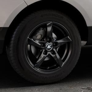 RC Design RC30 schwarz lackiert Felge mit Reifen in 15Zoll Winterfelge Alufelge auf silbernem Ford EcoSport Typ JK8 ⬇️ mit 15mm Tieferlegung ⬇️ Industriehalle 1 Thumbnail