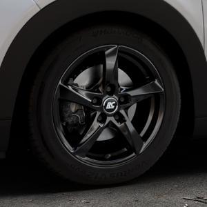 RC Design RC30 schwarz lackiert Felge mit Reifen in 16Zoll Winterfelge Alufelge auf silbernem Citroen C4 Cactus Typ 0 ⬇️ mit 15mm Tieferlegung ⬇️ Industriehalle 1 Thumbnail