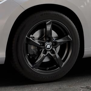 RC Design RC30 schwarz lackiert Felge mit Reifen in 16Zoll Winterfelge Alufelge auf silbernem Fiat Tipo II Limousine Typ 356 ⬇️ mit 15mm Tieferlegung ⬇️ Industriehalle 1 Thumbnail