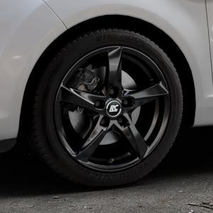 RC Design RC30 schwarz lackiert Felge mit Reifen in 16Zoll Winterfelge Alufelge auf silbernem Ford Fiesta VI Typ JA8 Facelift ⬇️ mit 15mm Tieferlegung ⬇️ Industriehalle 1 Thumbnail