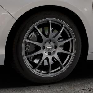 RFK Wheels SLS401 matt graphite Felge mit Reifen grau in 17Zoll Winterfelge Alufelge auf silbernem Citroen C4 Typ N ⬇️ mit 15mm Tieferlegung ⬇️ Industriehalle 1 Thumbnail