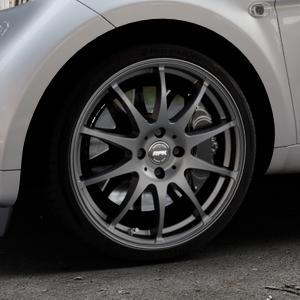 RFK Wheels SLS401 matt graphite Felge mit Reifen grau in 17Zoll Winterfelge Alufelge auf silbernem Smart Fortwo Coupe III (14-) (453) Cabrio (16-) ⬇️ mit 15mm Tieferlegung ⬇️ Industriehalle 1 Thumbnail