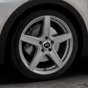 RH ALURAD AR4 anthrazit matt Felge mit Reifen grau in 18Zoll Winterfelge Alufelge auf silbernem Opel Ampera-e Typ 1G0F ⬇️ mit 15mm Tieferlegung ⬇️ Industriehalle 1 Thumbnail