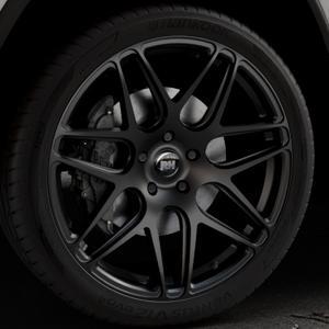 RH ALURAD RB11 racing schwarz matt Felge mit Reifen in 22Zoll Winterfelge Alufelge auf silbernem Jeep Grand Cherokee IV Typ WK ⬇️ mit 15mm Tieferlegung ⬇️ Industriehalle 1 Thumbnail