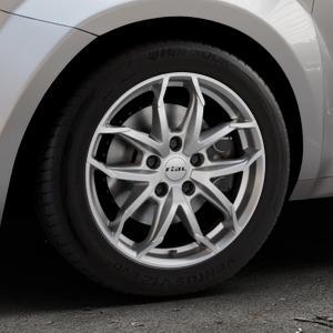 RIAL Lucca polar-silber Felge mit Reifen in 16Zoll Winterfelge Alufelge auf silbernem Alfa Romeo Mito Typ 955 ⬇️ mit 15mm Tieferlegung ⬇️ Industriehalle 1 Thumbnail