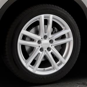RIAL X10X polar-silber Felge mit Reifen in 19Zoll Winterfelge Alufelge auf silbernem BMW X6 Typ F16 (X6, X-N1) ⬇️ mit 15mm Tieferlegung ⬇️ Industriehalle 1 Thumbnail
