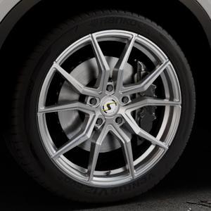 SchmidtRevolution Drago Softhorn Highgloss Silber Felge mit Reifen in 20Zoll Winterfelge Alufelge auf silbernem BMW X6 Typ F16 (X6, X-N1) ⬇️ mit 15mm Tieferlegung ⬇️ Industriehalle 1 Thumbnail