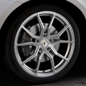 SchmidtRevolution Drago Softhorn Highgloss Silber Felge mit Reifen in 21Zoll Winterfelge Alufelge auf silbernem Volvo XC60 Typ D Facelift ⬇️ mit 15mm Tieferlegung ⬇️ Industriehalle 1 Thumbnail