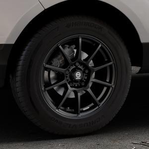 SPARCO ASSETTO GARA MATT BLACK Felge mit Reifen schwarz in 15Zoll Winterfelge Alufelge auf silbernem Ford EcoSport Typ JK8 ⬇️ mit 15mm Tieferlegung ⬇️ Industriehalle 1 Thumbnail