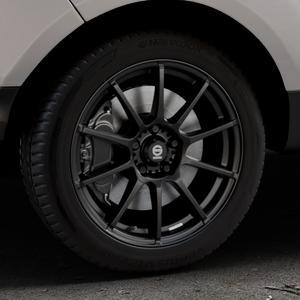 SPARCO ASSETTO GARA MATT BLACK Felge mit Reifen schwarz in 17Zoll Winterfelge Alufelge auf silbernem Ford EcoSport Typ JK8 Facelift ⬇️ mit 15mm Tieferlegung ⬇️ Industriehalle 1 Thumbnail