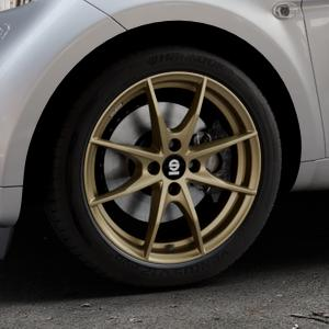 SPARCO TROFEO 4 GLOSS BRONZE Felge mit Reifen in 16Zoll Winterfelge Alufelge auf silbernem Smart Fortwo Coupe III (14-) (453) Cabrio (16-) ⬇️ mit 15mm Tieferlegung ⬇️ Industriehalle 1 Thumbnail