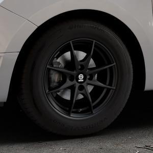 SPARCO TROFEO 4 MATT BLACK Felge mit Reifen schwarz in 14Zoll Winterfelge Alufelge auf silbernem Dacia Logan II Typ SD ⬇️ mit 15mm Tieferlegung ⬇️ Industriehalle 1 Thumbnail