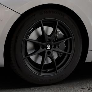 SPARCO TROFEO 4 MATT BLACK Felge mit Reifen schwarz in 17Zoll Winterfelge Alufelge auf silbernem DS Automobiles DS5 Typ K Facelift ⬇️ mit 15mm Tieferlegung ⬇️ Industriehalle 1 Thumbnail