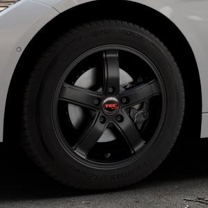 Tec Speedwheels AS1 schwarz seidenmatt Felge mit Reifen in 16Zoll Winterfelge Alufelge auf silbernem BMW 320i Typ F30 (Limousine) 328i 335i 320d 318d 316d 316i 330d xDrive EffDyn Edition 325d 335d ActiveHybrid 318i ⬇️ mit 15mm Tieferlegung ⬇️ Industriehalle 1 Thumbnail