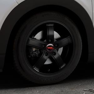 Tec Speedwheels AS1 schwarz seidenmatt Felge mit Reifen in 16Zoll Winterfelge Alufelge auf silbernem Citroen C4 Cactus Typ 0 ⬇️ mit 15mm Tieferlegung ⬇️ Industriehalle 1 Thumbnail