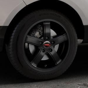 Tec Speedwheels AS1 schwarz seidenmatt Felge mit Reifen in 16Zoll Winterfelge Alufelge auf silbernem Ford EcoSport Typ JK8 ⬇️ mit 15mm Tieferlegung ⬇️ Industriehalle 1 Thumbnail