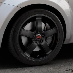 Tec Speedwheels AS1 schwarz seidenmatt Felge mit Reifen in 17Zoll Winterfelge Alufelge auf silbernem Alfa Romeo Mito Typ 955 ⬇️ mit 15mm Tieferlegung ⬇️ Industriehalle 1 Thumbnail