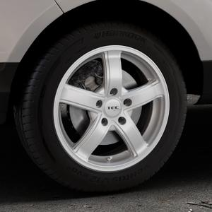 Tec Speedwheels AS1 sterling silber Felge mit Reifen in 16Zoll Winterfelge Alufelge auf silbernem Ford EcoSport Typ JK8 ⬇️ mit 15mm Tieferlegung ⬇️ Industriehalle 1 Thumbnail