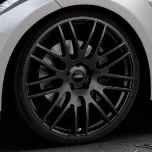 Tec Speedwheels GT1 schwarz seidenmatt Felge mit Reifen in 22Zoll Winterfelge Alufelge auf silbernem Tesla Model S Typ 002 ⬇️ mit 15mm Tieferlegung ⬇️ Industriehalle 1 Thumbnail