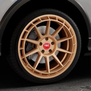 Tec Speedwheels GT8 rosé gold Felge mit Reifen in 19Zoll Winterfelge Alufelge auf silbernem Audi Q2 Typ GA ⬇️ mit 15mm Tieferlegung ⬇️ Industriehalle 1 Thumbnail