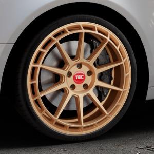 Tec Speedwheels GT8 rosé gold Felge mit Reifen in 20Zoll Winterfelge Alufelge auf silbernem Audi A6 Typ 4F/C6 (Limousine) ⬇️ mit 15mm Tieferlegung ⬇️ Industriehalle 1 Thumbnail