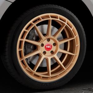 Tec Speedwheels GT8 rosé gold Felge mit Reifen in 20Zoll Winterfelge Alufelge auf silbernem Audi Q5 I Typ 8R ⬇️ mit 15mm Tieferlegung ⬇️ Industriehalle 1 Thumbnail