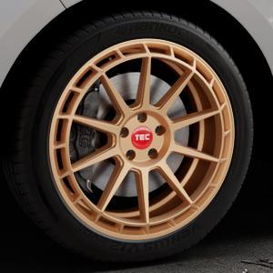 Tec Speedwheels GT8 rosé gold Felge mit Reifen in 20Zoll Winterfelge Alufelge auf silbernem Ford Edge Typ SBF ⬇️ mit 15mm Tieferlegung ⬇️ Industriehalle 1 Thumbnail